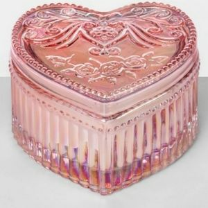 Opalhouse Etched Heart Glass Scented Candle 3.5oz